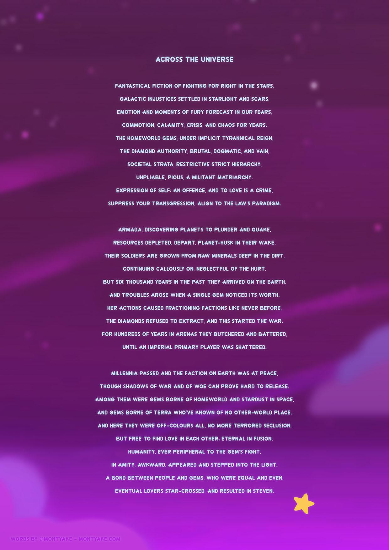 Steven Universe Poem